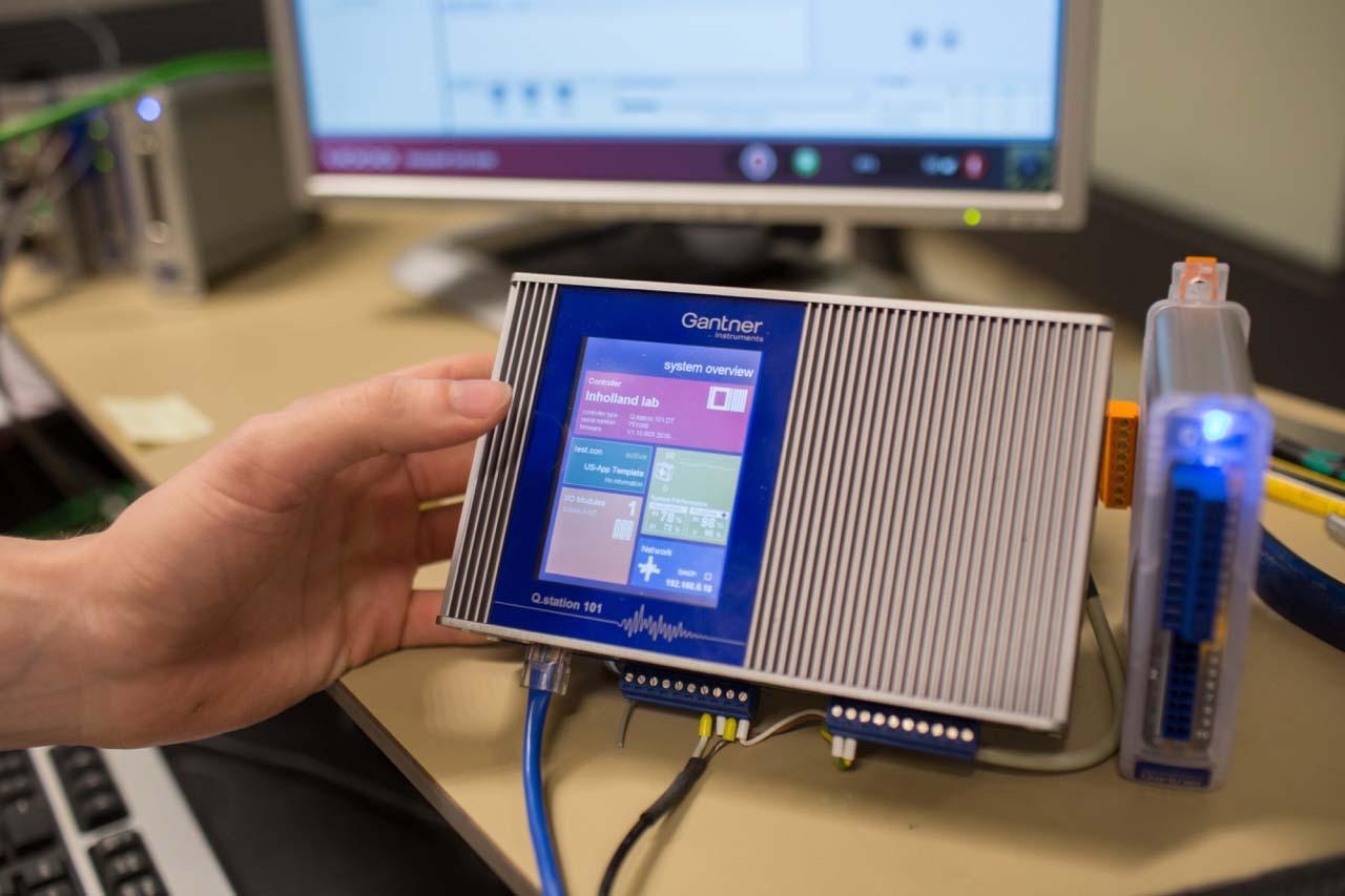 inholland composites smart bench dynamic testing graduation assignment moog gantner
