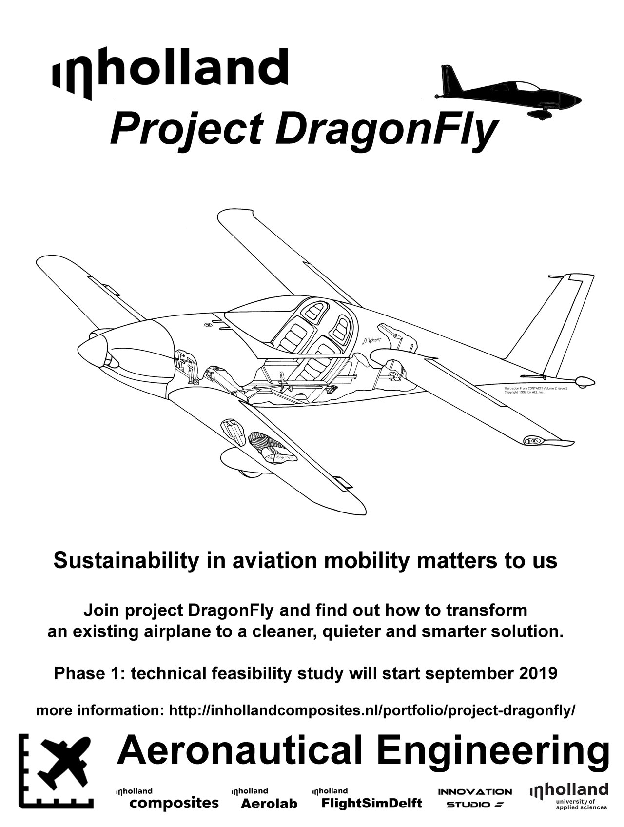 Project DragonFly is a project at Inholland Aeronautical Engineering in Delft about transforming the existing aviation industry to become more sustainable